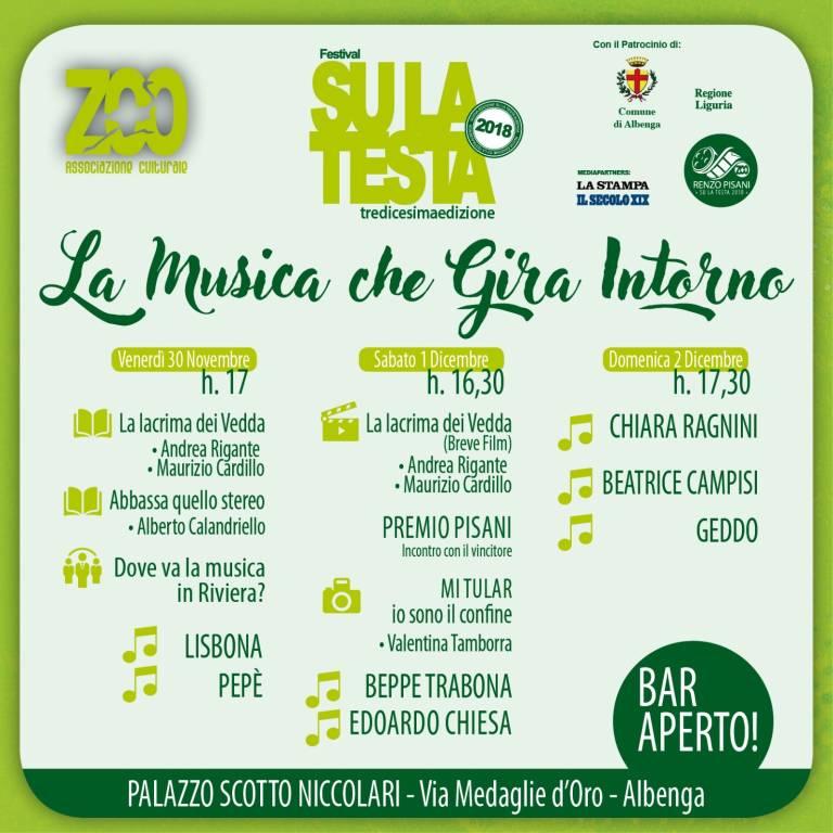 Festival Su La Testa Albenga 2018