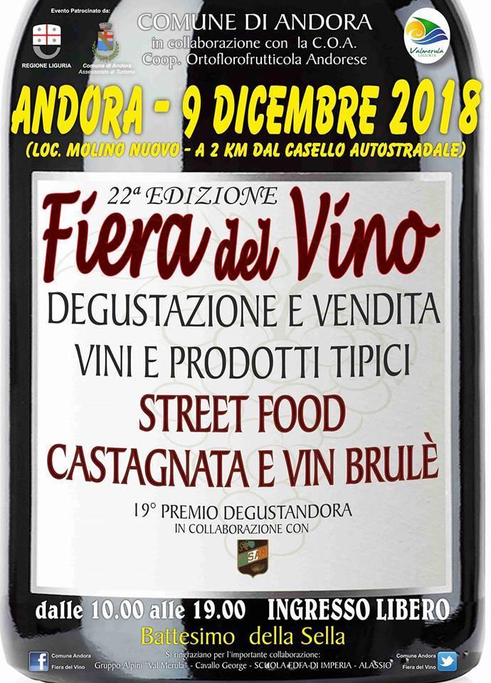 Fiera del Vino Andora Molino Nuovo 2018