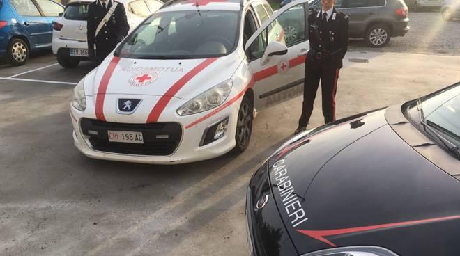 Furto automedica Cri Ceriale Carabinieri