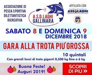 Gara alla trota più grossa ai laghi Gallinara Albenga 2018