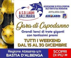 Gara lanci trote giganti laghi Gallinara Albenga 2018