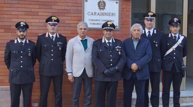 Generale Cetola visita Compagnia cc Alassio