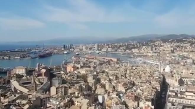 genova panorama centro storico porto città