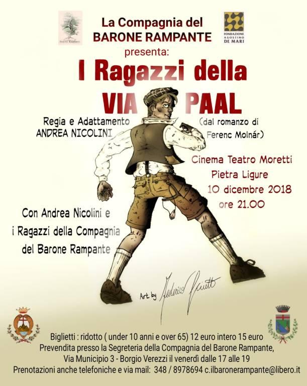 """""""I ragazzi della Via Paal"""" spettacolo Andrea Nicolini e Barone Rampante"""