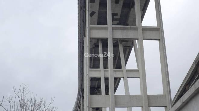 Il ponte Morandi nel marzo del 2018