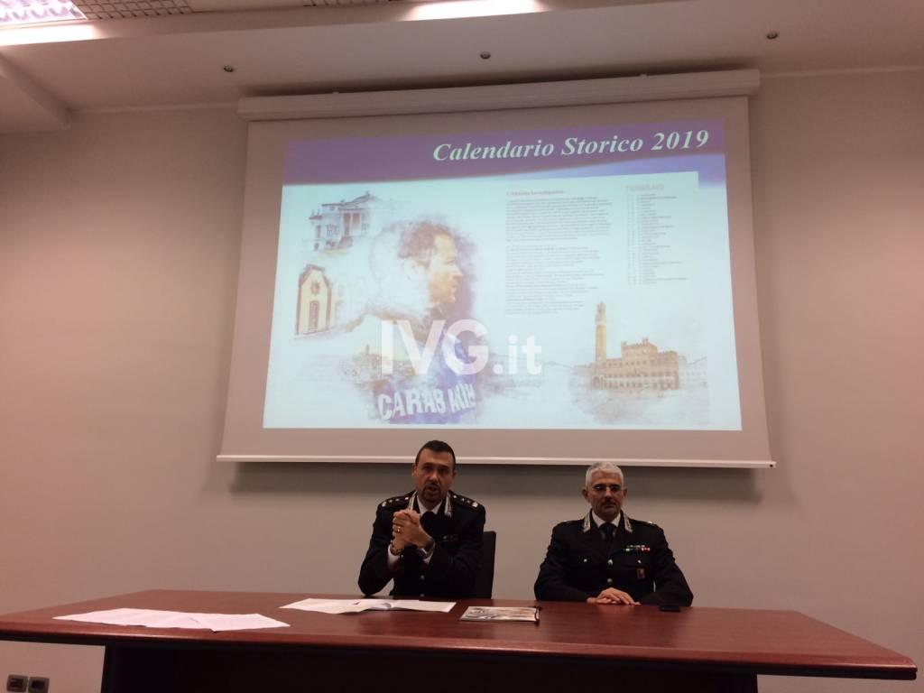 L'edizione 2019 del Calendario Storico dell'Arma dei Carabinieri