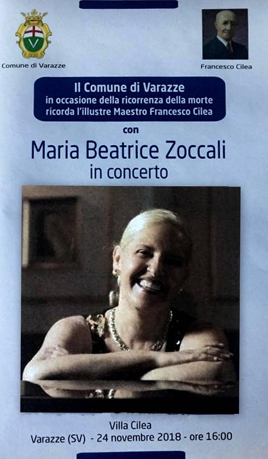 Maria Beatrice Zoccali concerto Varazze