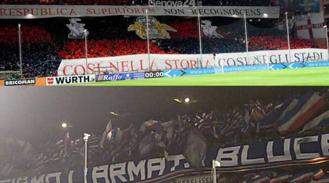 mix derby genoa-sampdoria,