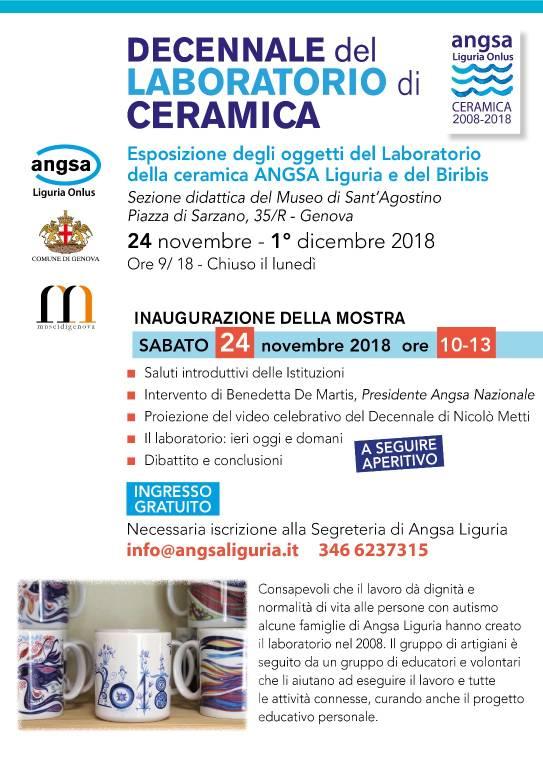 Mostra 10 anni Laboratorio Ceramica Angsa Liguria