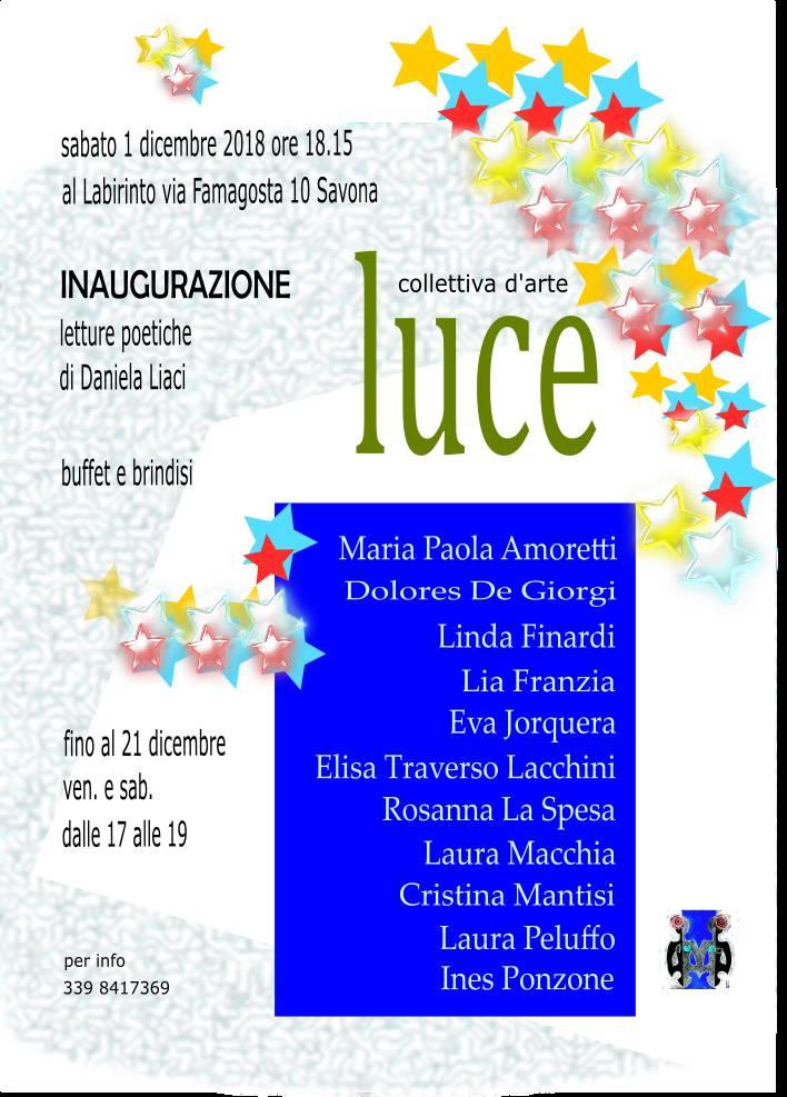 "Mostra d'arte ""Luce"" Il Labirinto Savona"