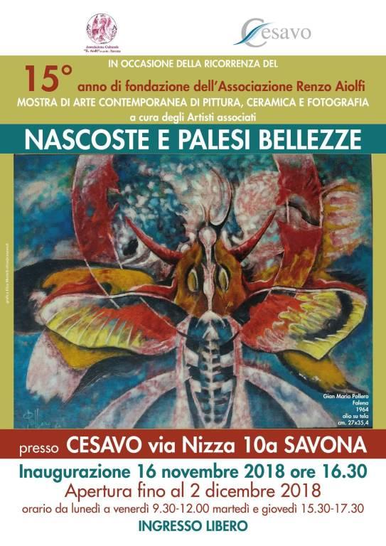 """Nascoste e palesi bellezze"" mostra d'arte Savona"