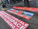 Piaggio aerospace drone protesta lavoratori