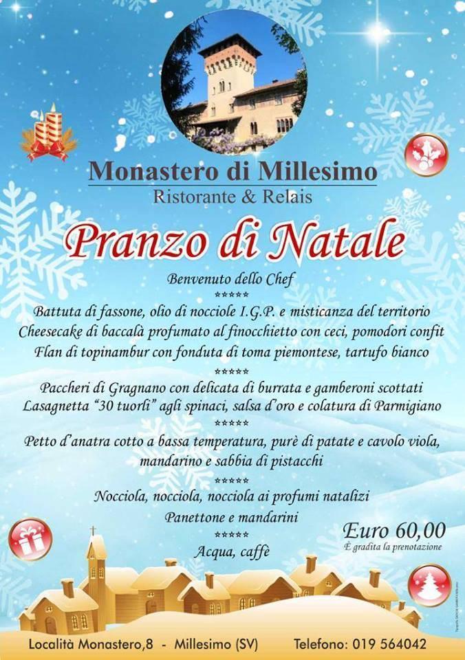 Pranzo di Natale Monastero Millesimo