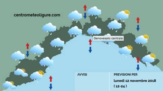 previsioni meteo 12 novembre
