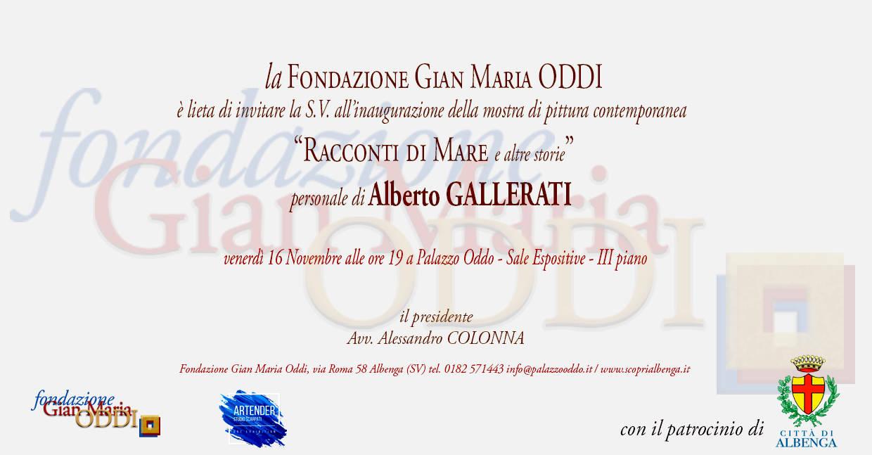 """""""Racconti di mare e altre storie"""" mostra Alberto Gallerati Albenga"""