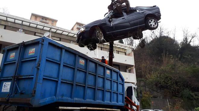 rimozione relitti auto,