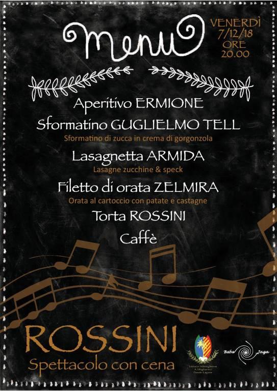 """""""Rossini, il genio nell'altra stanza"""" cena concerto Finale Ligure"""