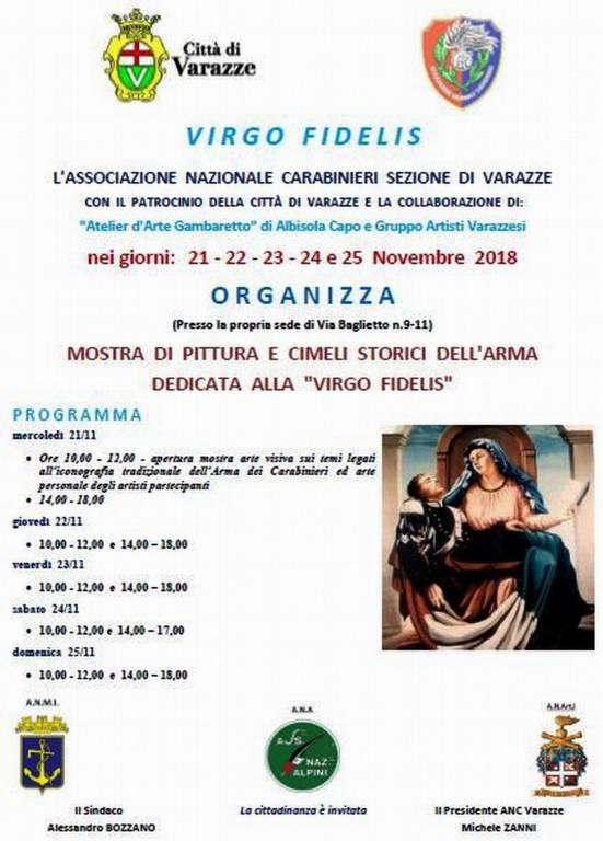 Virgo Fidelis mostra d'arte Varazze