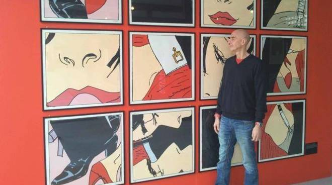 "Massimo Cotto mostra d'arte ""Voci su Tela"" Loano"