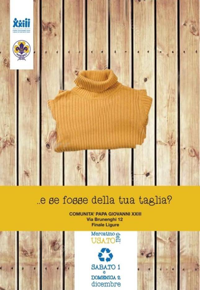 Volontariato a buon Mercato Comunità Papa Giovanni XXIII Finale Ligure 2018