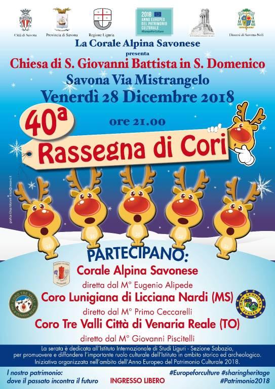 40esima Rassegna di Cori Savona 2018