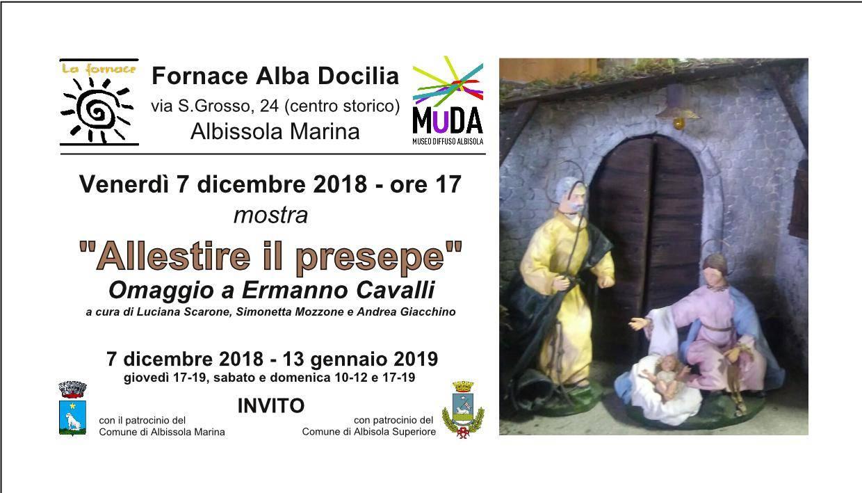 """""""Allestire il presepe"""" mostra Fornace Alba Docilia Albissola Marina"""