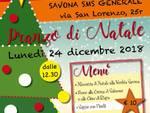 Lunedì alla SMS Generale di Savona: Pranzo di Natale alla Trattoria del Mutuo Soccorso
