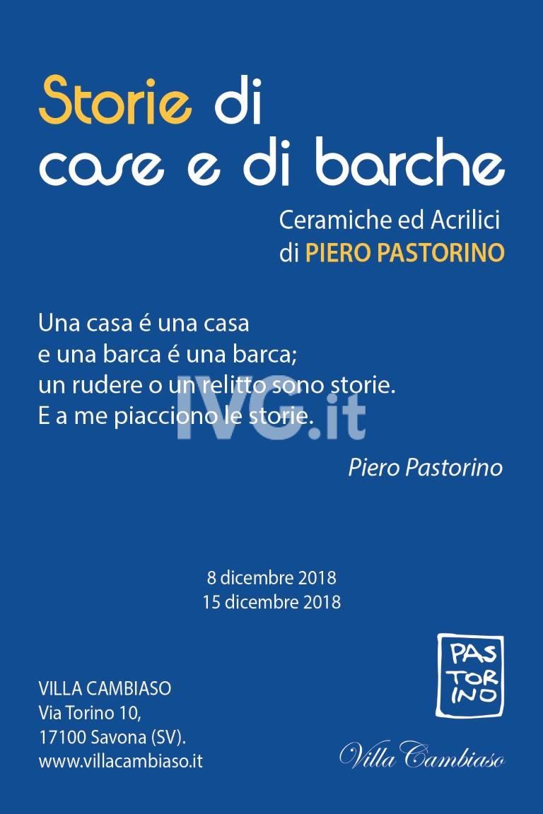 """Mostra personale di Piero Pastorino: \""""Storie di case e di barche\"""""""