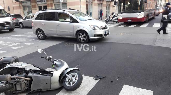 Incidente questa mattina in via Alessandria