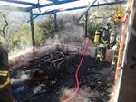 cogoleto veranda in fiamme