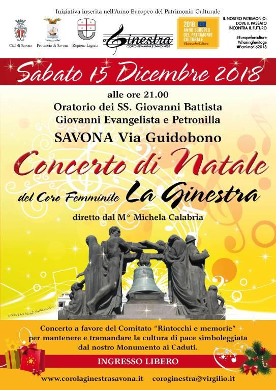 Concerto Natale 2018 Coro La Ginestra Savona