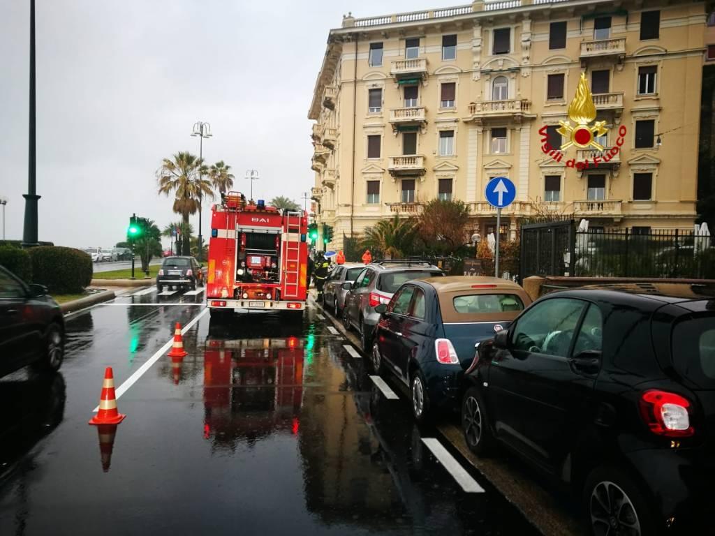 fuga di gas via zara corso italia vigili del fuoco
