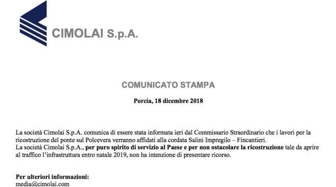 Bucci conferma: