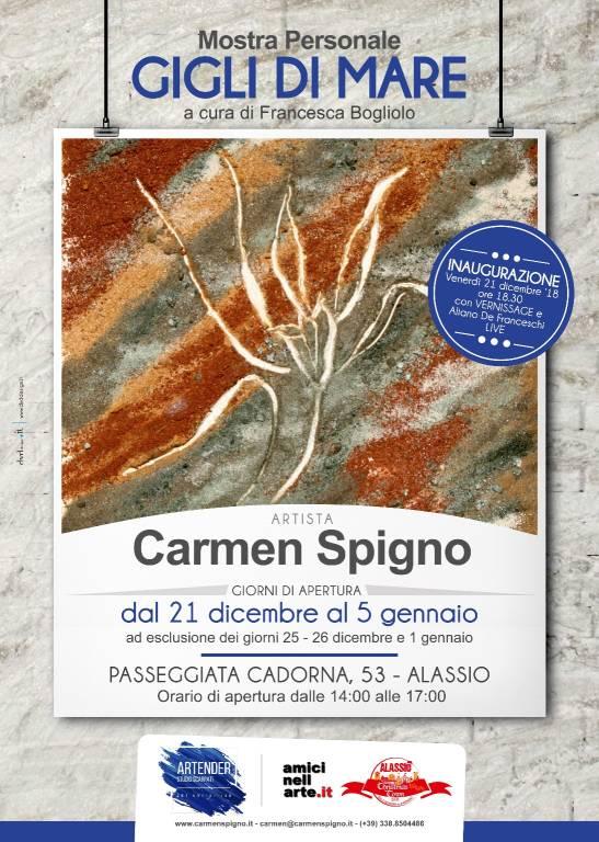 """""""Gigli di Mare"""" mostra d'arte Carmen Spigno"""