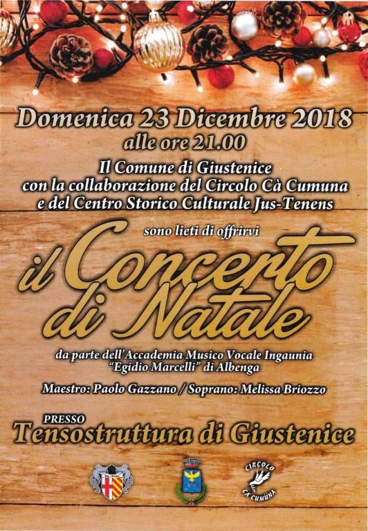 Concerto di Natale Giustenice 2018