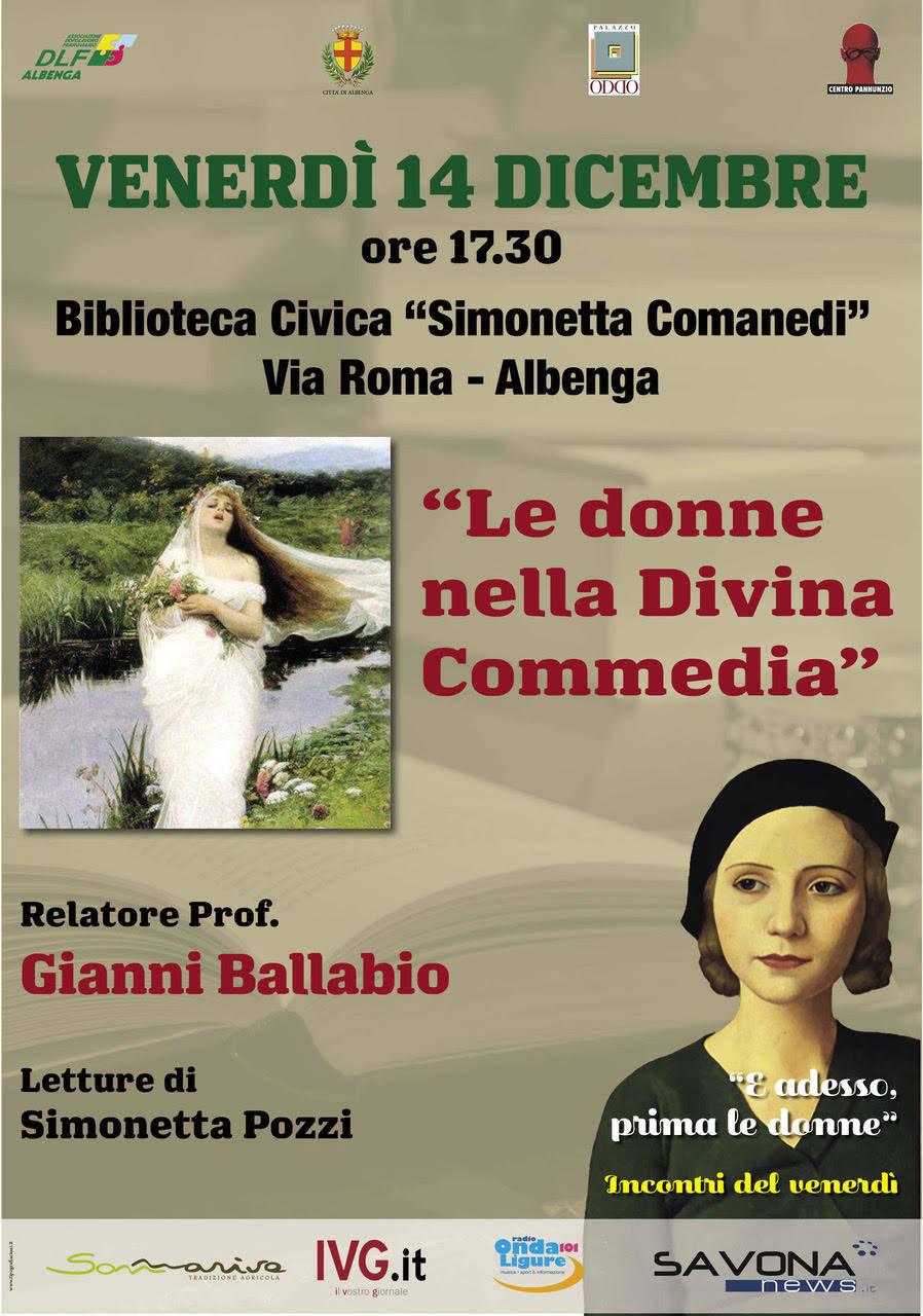 """""""Le donne della Divina Commedia"""" incontro Albenga"""