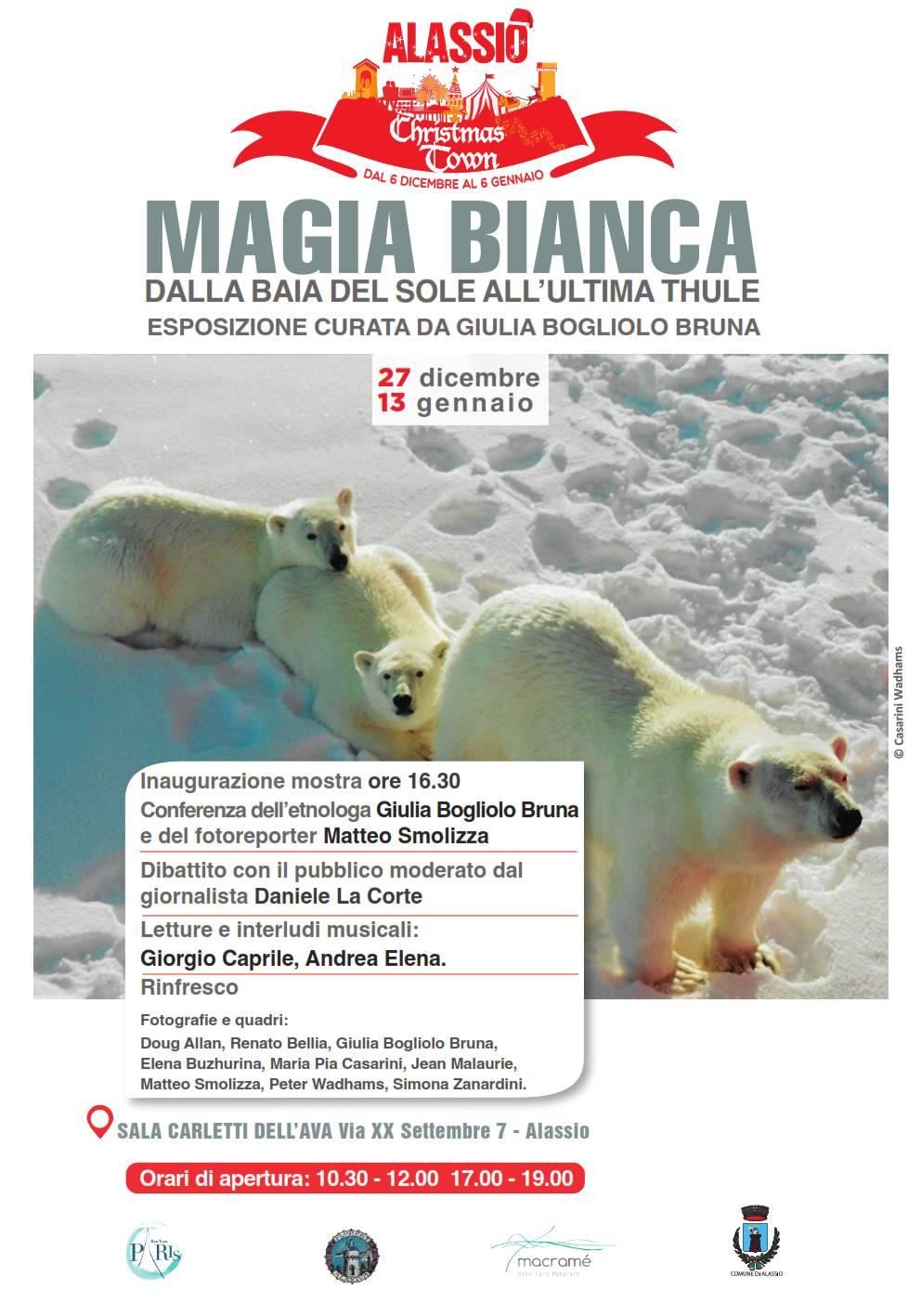 """""""Magia bianca - Dalla Baia del Sole all'Ultima Thule"""" mostra Alassio"""