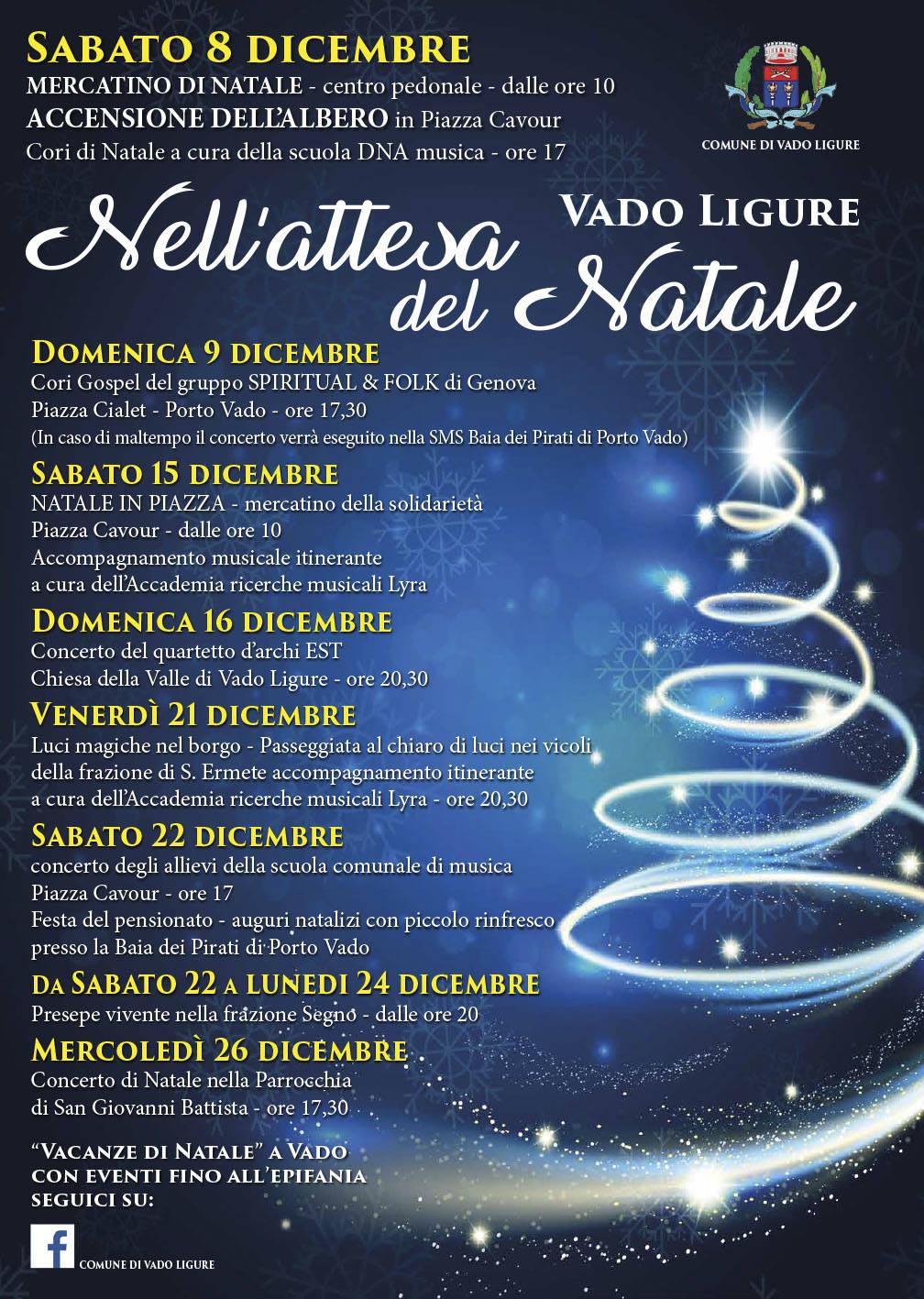 """""""Nell'attesa del Natale"""" Vado Ligure 2018"""