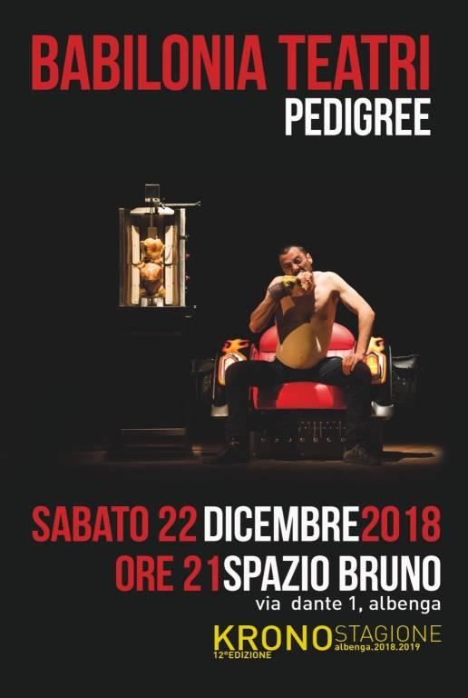 """""""Pedigree"""" spettacolo Babilonia Teatri Spazio Bruno Albenga"""