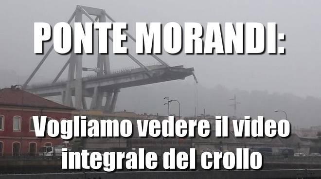 petizione video crollo ponte morandi