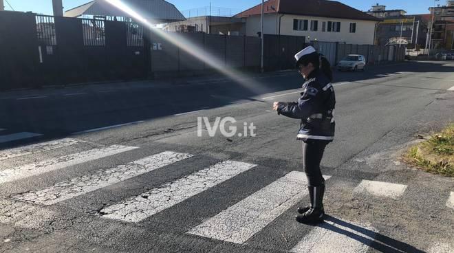 Polizia locale Savona incidente