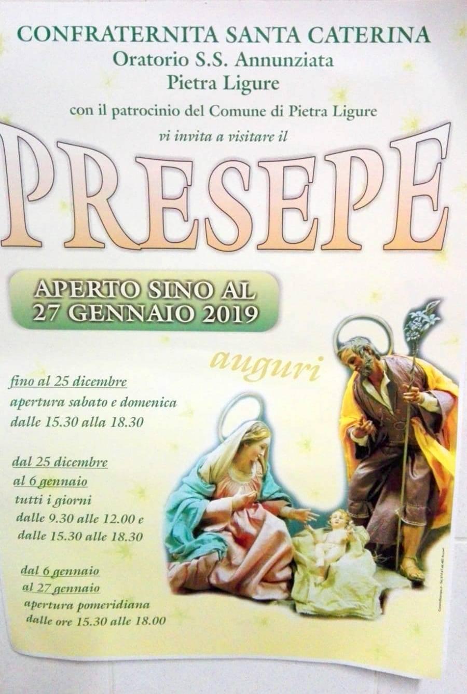 Presepe Confraternita Santa Caterina Pietra Ligure 2018