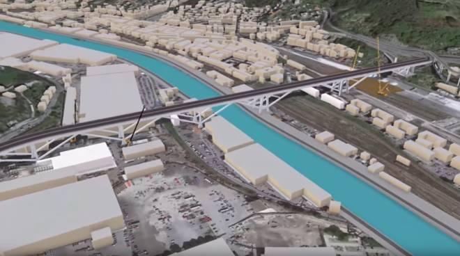 progetto ricostruzione ponte Italiana costruzioni, Maeg e Monaco