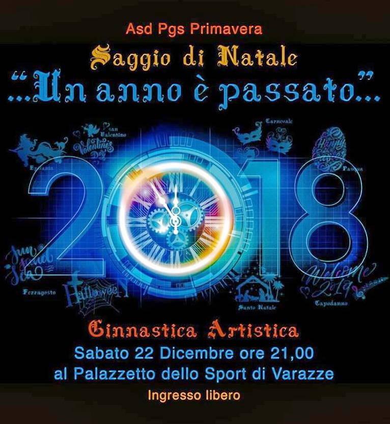 Saggio Natale Ginnastica Artistica PGS Primavera Varazze
