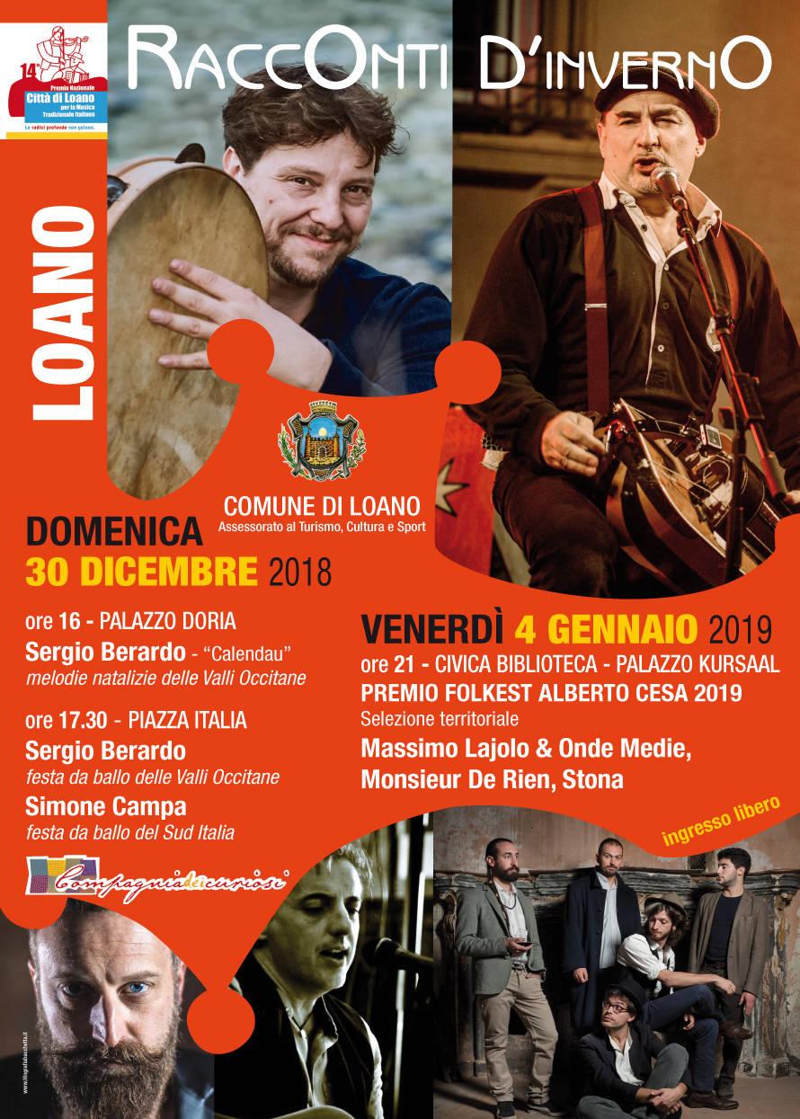 """Sergio Berardo musica folk """"Racconti d'Inverno"""" Loano"""
