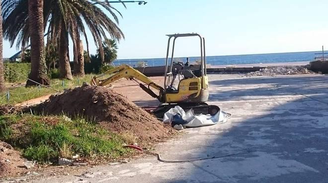 Lavori Spotorno terrazza mare