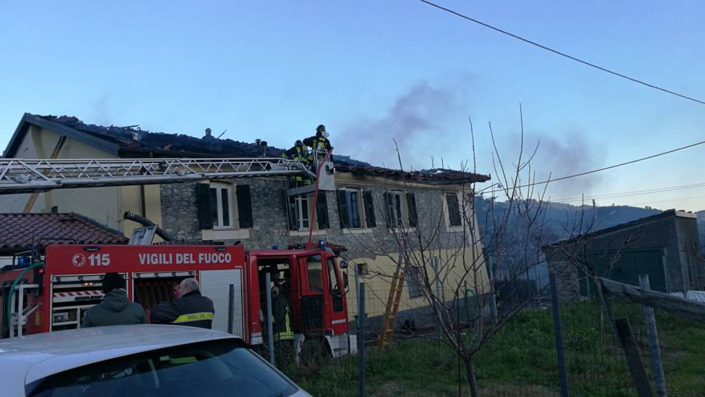 Appartamento a fuoco ad Andora