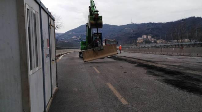 Cantiere ponte Morandi al 20 gennaio