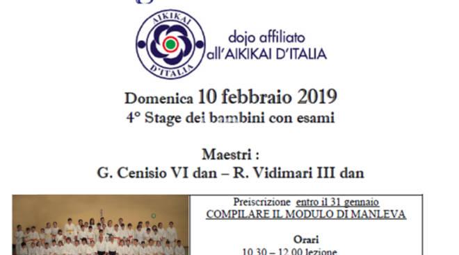 2019, il programma è ricco per la Scuola Aikido di Finale Ligure e Tovo San Giacomo e a breve lo Stage dei Bambini