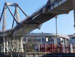 Demolizione ponte Morandi gru strand jack